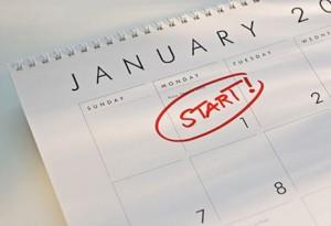 January Calendar Close up